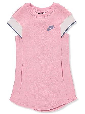 3591f6f3b Amazon.com: Nike Girls' Dress - Pink Heather, 5: Clothing