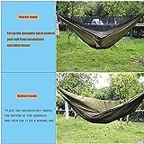 AEETT Camping Hammock with Mosquito Net and Rain