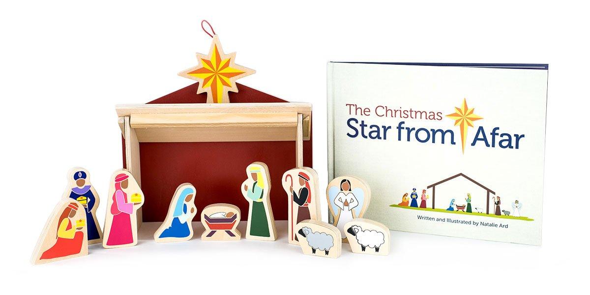 Star From Afar The Christmas Darker Skin Tone - Christmas Advent Nativity for Kids - Great Christian or Catholic Gift for Children