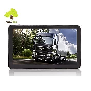"""NozaTec Navegador GPS 7"""" para Camión con Bluetooth Pantalla Táctil SpeedCam IGO9 Mapa Europea de"""