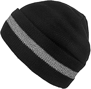 Beanie with reflective stripes unisex