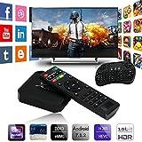 Cewaal (US Plug)TV Box,X96 Mini Android 7.1 Amlogic S905W 1GB+8GB Quad Core WiFi HD 4Kx2K Smart TV Box Media Player with I8 Keyboard