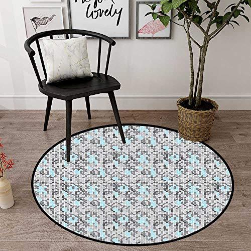 Circularity Floor mat entryway Round Indoor Floor mat Entrance Circle Floor mat for Office Chair Wood Floor Circle Floor mat Office Round mat for Living Room Pattern 1'8