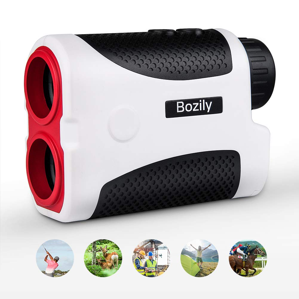 Bozily Golf Rangefinder, 6X Laser Range Finder 1000 Yards with Slope ON/Off Technology, Fast Flag-Lock, Continuous Scan Support - Tournament Legal Golf Rangefinder by Bozily