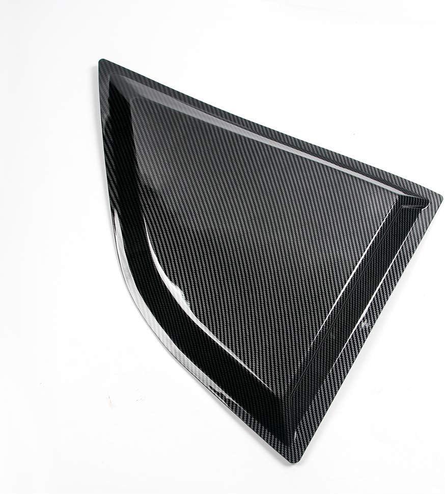 XE Style Carbon Fiber Print PP Window Vents Guards IKON MOTORSPORTS Window Scoops Fits 2008-2020 Dodge Challenger