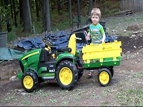 The Boy And His John Deere Tractor (Dump Truck Remote Control)