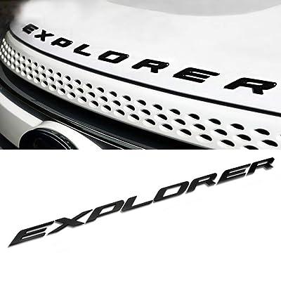 ABS Hood Emblem Letters Fit for Ford Explorer 2011-2020 Front Hood Emblem Letters Badge Decal, Matte Black: Automotive