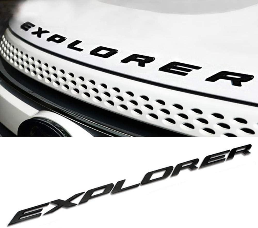 3D Metal Hood Emblem Letters Fit for Ford Explorer 2011-2020 Front Hood Emblem Letters Badge Decal, Black