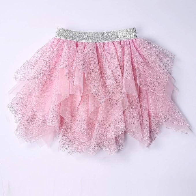 OPAKY Ni/ñas Tul Irregular Pettiskirt Tutu Faldas Bowknot Tiered Dancewear Vestidos de Fiesta para Ni/ñas Beb/é Ballet Tulle Ballet Cl/ásica para Disfraz Fiesta Vestidos Bebes Ni/ña