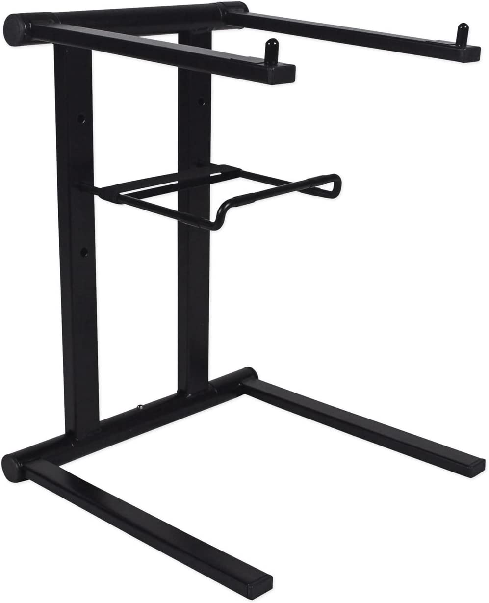 Rockville RLS2400 Folding Laptop Stand For Karaoke Machine//System+Travel Bag