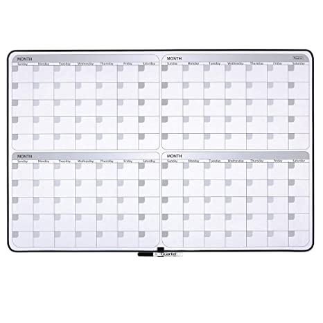 Amazon Com Quartet Whiteboard Planner 4 Month Planning White