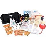 EverOne Emergency Response Trauma First Responder Kit Fully Stocked, Black
