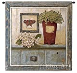 Fine Art Tapestries ''Garden Cabinet'' Wall Tapestry