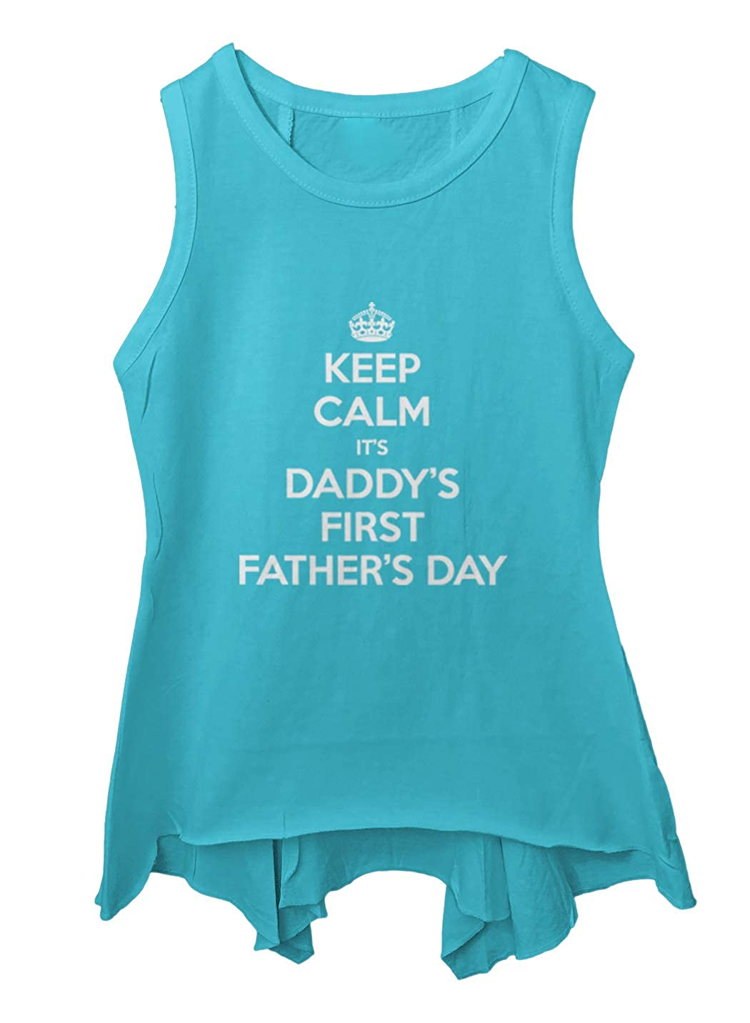Tcombo Keep Calm Daddys First Fathers Day Toddler//Youth Sleeveless Backswing