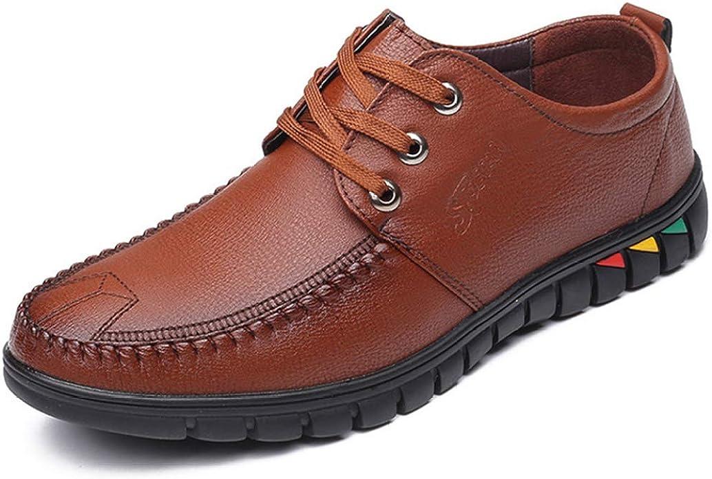 Zapatos de Vestir para Hombres de Moda Zapatos Casuales de Cuero Calzado Masculino cómodo Zapatos de Trabajo Oxfords de Negocios Suaves Zapatos para Hombres