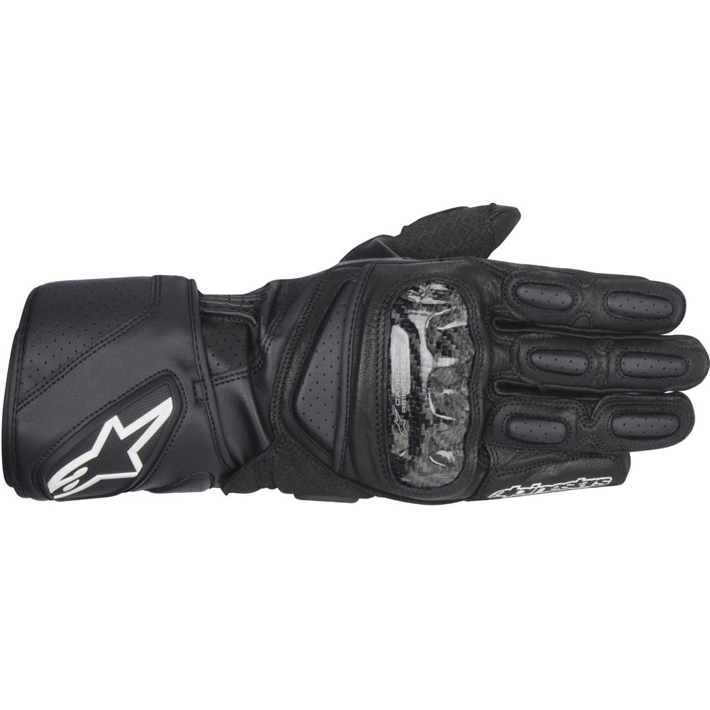 Alpinestars SP-2 Men's Leather Road Race Motorcycle Gloves - Black / Large