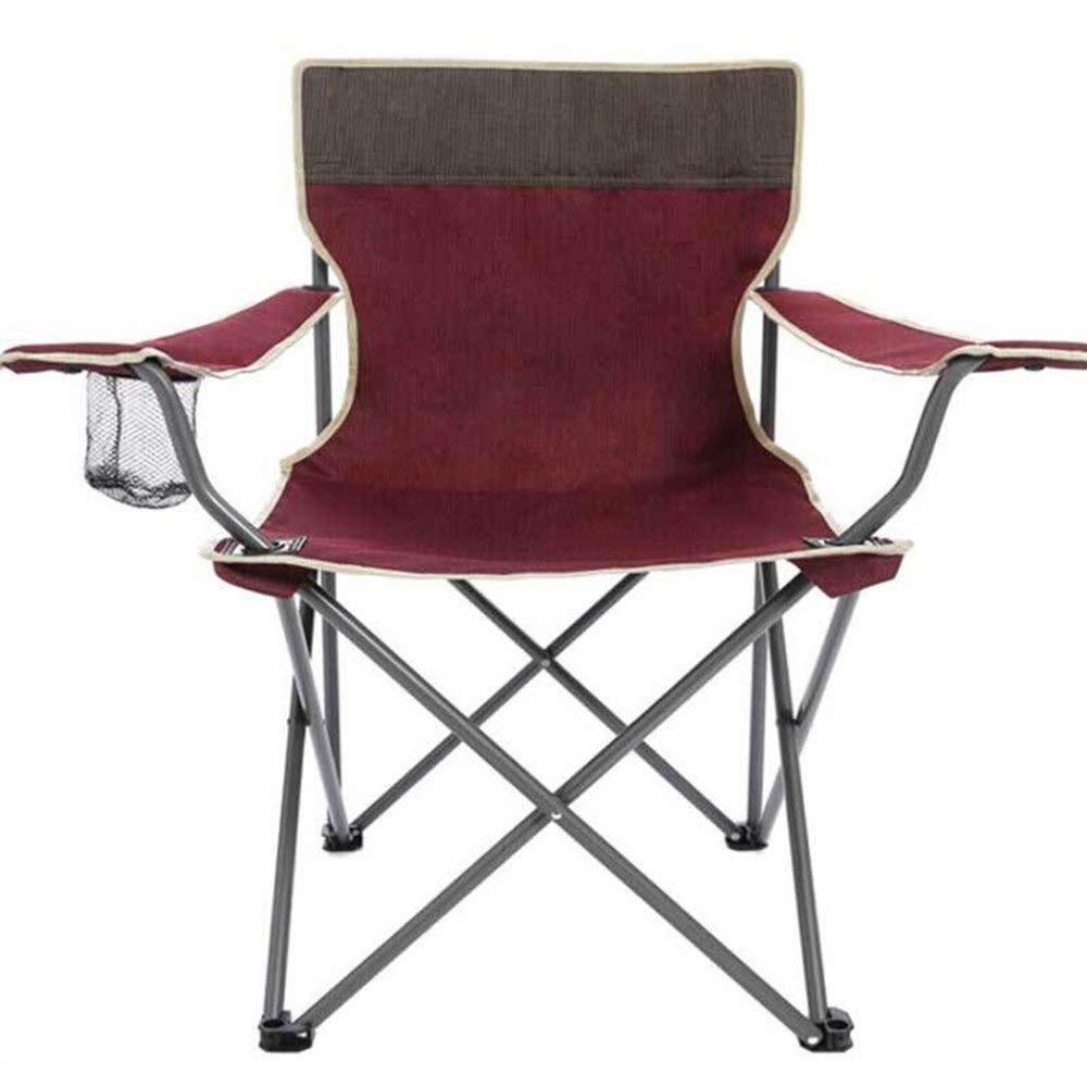 C-Xka Klappstuhl im Freien Stuhl Strand Stuhl Angeln Stuhl Portable Freizeit Stuhl im Freien Oxford Tuch Klappstuhl, Rose ROT