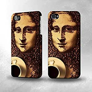 Apple iPhone 4 / 4S case cover - The Best 3D Full Wrap foay3npixYf iPhone case cover - Monalisa Coffee