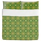 Indonesian Splendor Duvet Bed Set 3 Piece Set Duvet Cover - 2 Pillow Shams - Luxury Microfiber, Soft, Breathable