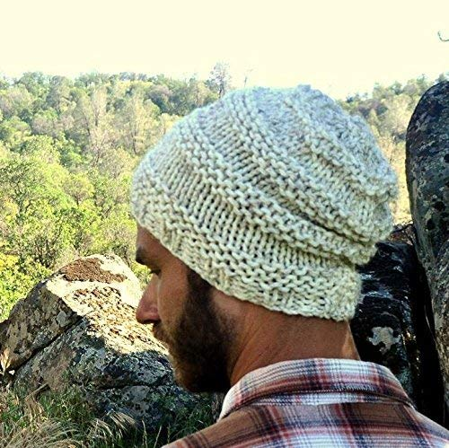 c0edab8c11a13 Amazon.com  Slouchy Knit Beanie Hat Accordion Texture Stripe More Colors   Handmade