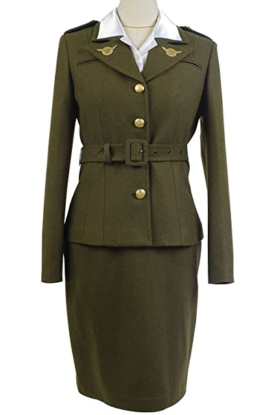 1940s Style Dresses and Clothing Margaret/Peggy Carter Dress Cosplay Costume Uniform Suit $135.00 AT vintagedancer.com