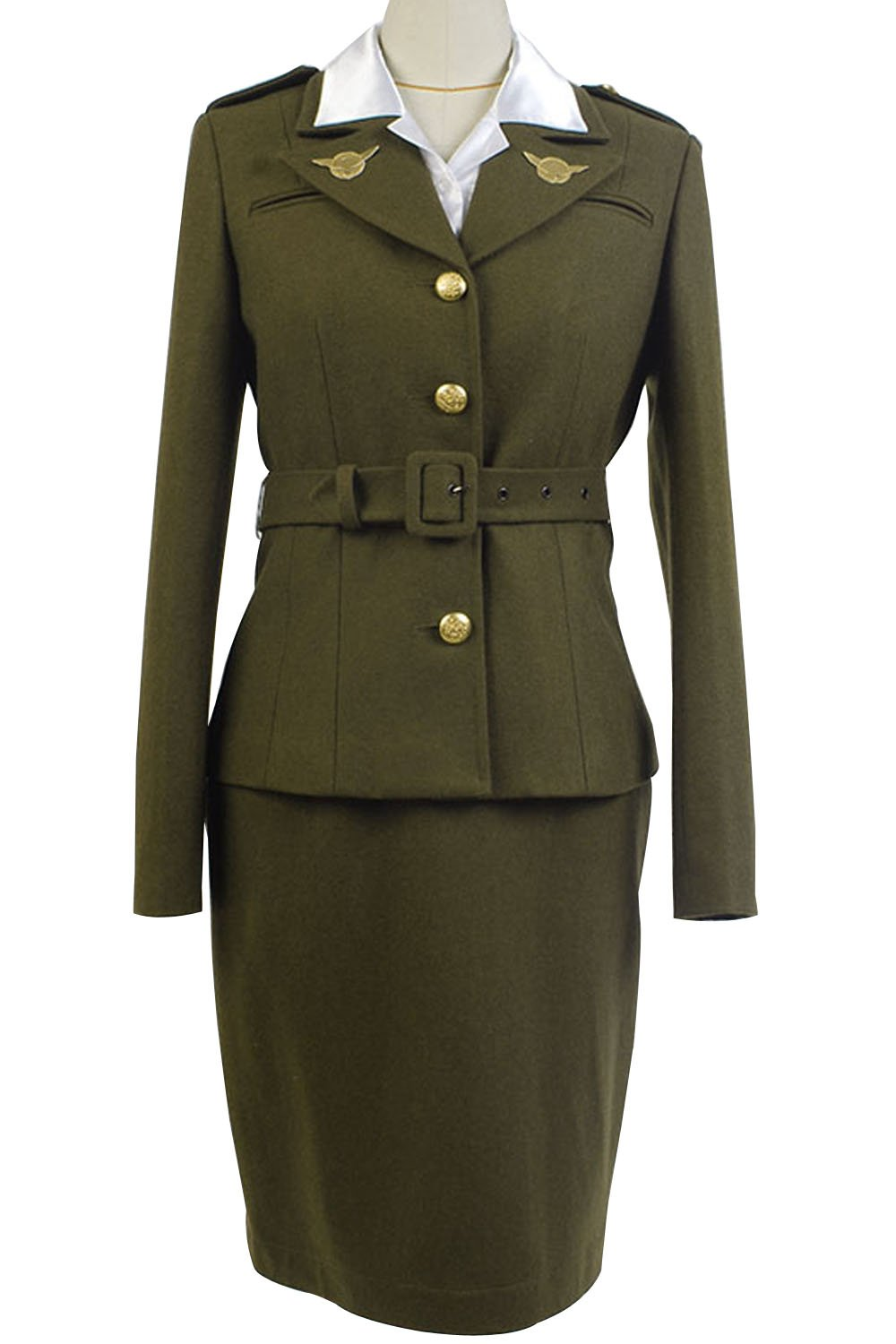 Sidnor Women's Officer Margaret/Peggy Carter Dress Cosplay Costume Uniform Suit by Sidnor