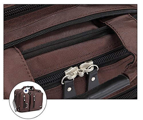 Bronze Times (TM) 17.3 Inch Business Travel Gear Laptop Shoulder Bag Backpack (Black) by Bronze Times (Image #4)
