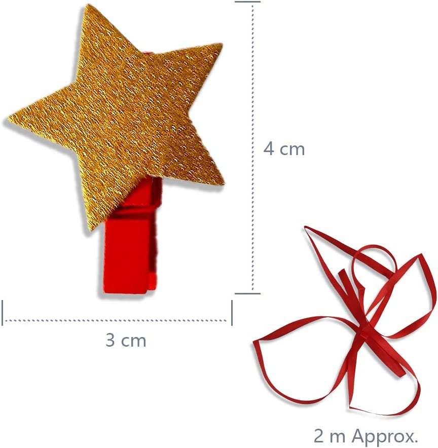 12 Pack Christmas Card Holder Pegs Schone Products Cute Novelty Decoration THE SPIRIT OF XMAS UK