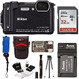 Nikon Coolpix W300 Digital Camera (Black) with 32GB SD Card & Accessory Bundle
