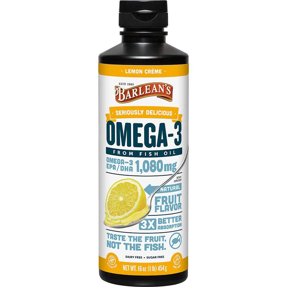 Barlean?s Seriously Delicious Omega-3 Fish Oil, Lemon Cr�me, 16-oz by BARLEAN'S