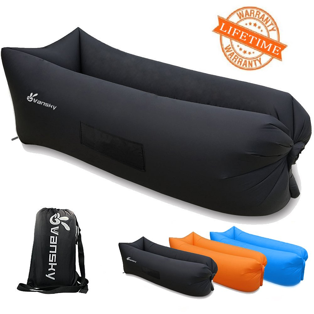 Inflatable Sofa Air Bed Lounger: Outdoor Inflatable Lounger Portable Waterproof Air Filled