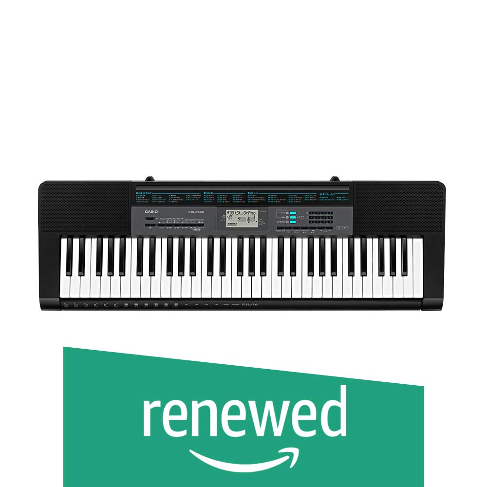 Casio CTK-2550 61-Key Portable Keyboard with App Integration/Dance Music Mode (Renewed) by Casio