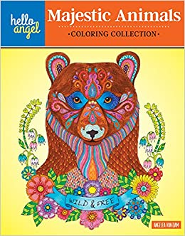 Amazon Hello Angel Majestic Animals Coloring Collection 9781497201446 Angelea Van Dam Books