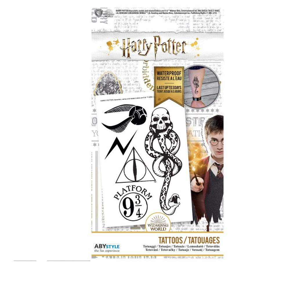 ABYstyle - Harry Potter - Tatuajes - 15x10 cm: Amazon.es: Belleza