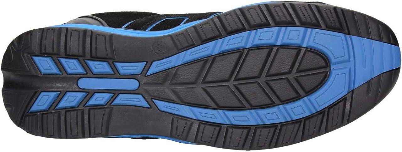 FUZZIO Zapatos de Seguridad Hombre Calzado de Trabajo para Zapatillas Cordones el/ásticos de Silicona Que no se Atan