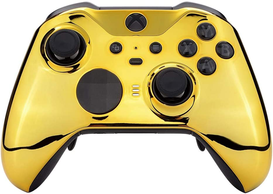 Thumbstick Accent Rings Included Soft Touch Front Housing Shell Case Replacement Kit for Xbox One Elite Series 2 Controller Model 1797 eXtremeRate Gold Star Universe Patterned Faceplate Cover