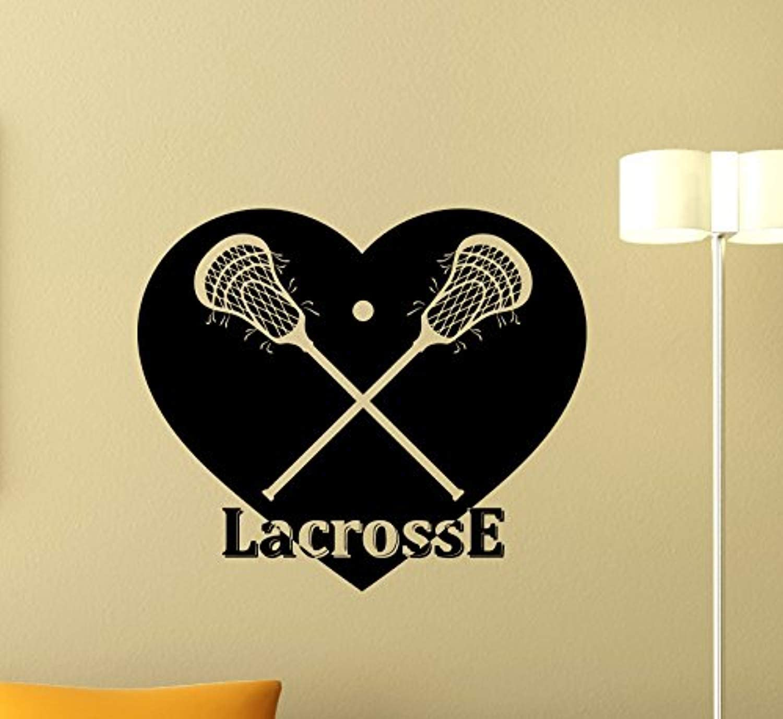 Lacrosse Wall Vinyl Decal Gym Sport Lacrosse Vinyl Sticker Nursery Wall Decor Cool Wall Art Kids Teen Girl Boy Room Wall Design Modern Bedroom Wall Decor Mural 411QQ