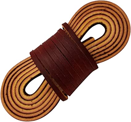 """1 Dark BROWN COLOR RAWHIDE LEATHER  SHOE//BOOT LACES. NEW. PAIR 36/"""" by 1//8/"""""""