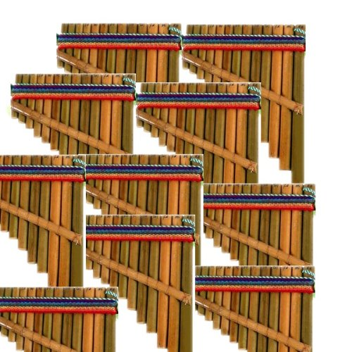 "Sanyork Fair Trade 4"" Small Pan Flute One Dozen Pack Wholesale Musical Instrument Peru *000637*"