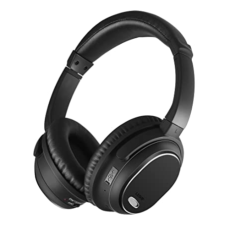Wireless Over Ear Headphones, LESHP Active Noise Cancelling ANC Stereo Bluetooth Headphones with Mic and