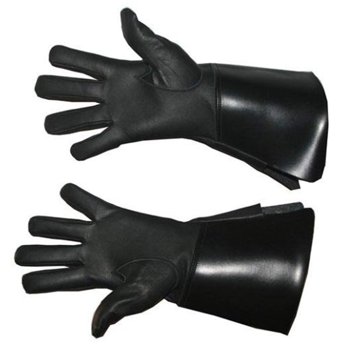 NEW WHITE/BLACK GAUNTLETS REAL LEATHER PIPER DRUMMER QUALITY LEATHER GLOVES Star Leather Band Glove Piper Drummer Glove. GAUNTL