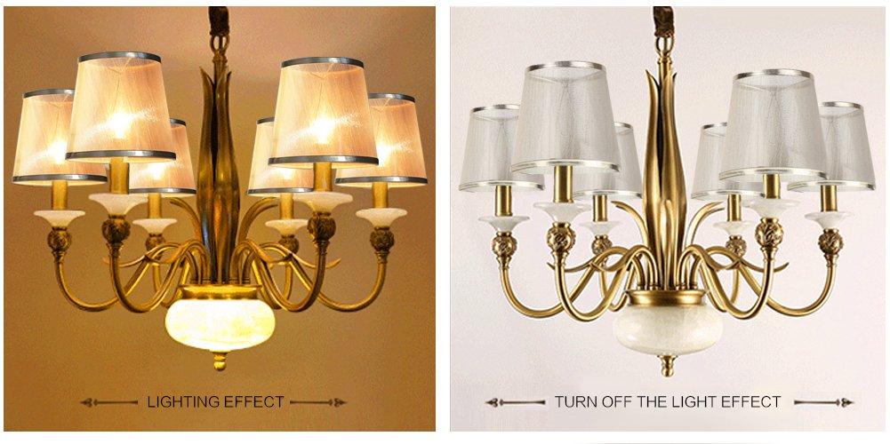 YISUN Set of 6 Crystal Chandelier Mini Lamp Shade 5.5-inch, Bell, Clip On, Burgundy (Transparent)