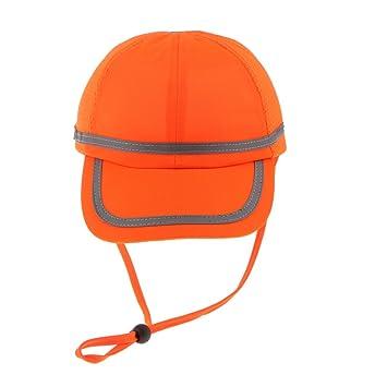 FLAMEER Trabajador Soldador Sombrero Cascos Sombrero De Béisbol Gorro De Tela Protección De La Cabeza - Rejilla naranja fluorescente: Amazon.es: Bricolaje y ...