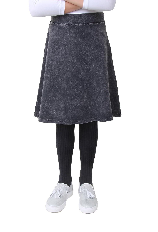 Kiki Riki Girls Stone Denim Wash A-Line Skirt