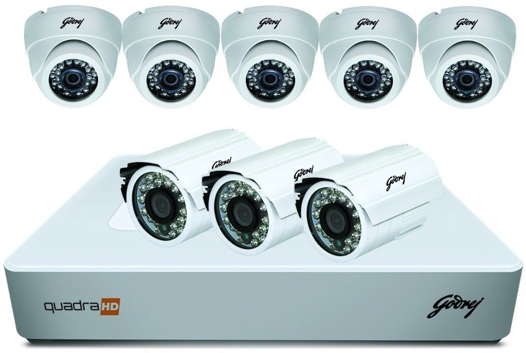 Godrej Security Solutions See Thru 720P 8 Channel 5 Dome 3