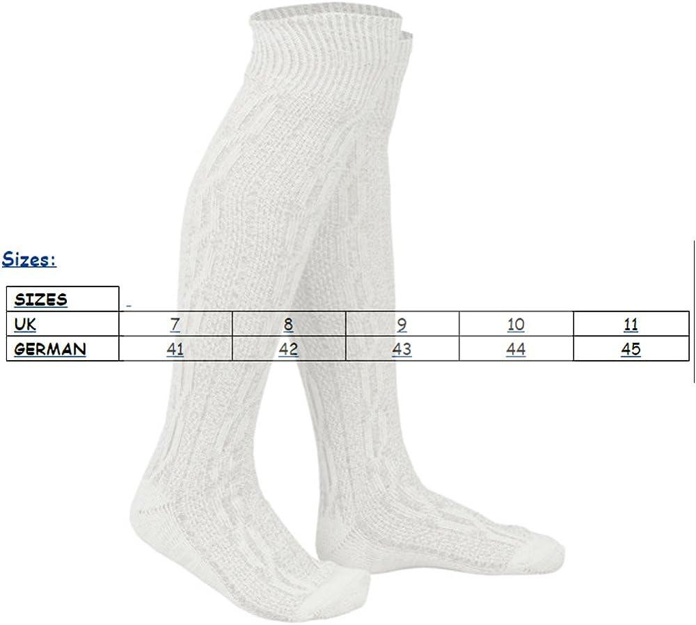 WHITE /& BROWN MIX BAVARIAN SOCKS OKTOBERFEST//CAUSAL LEDERHOSEN SOCKS IN PAIRS