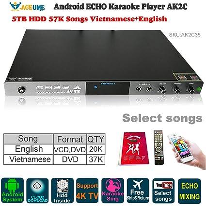 Amazon com: 5TB HDD 57K Vietnamese,English Songs AK2C Android