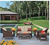 Rolston 4-Piece Wicker Patio Converstaion Set