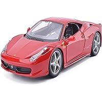 STBAAS Car Model, Model Car Toy Car Model 1:24 Ferrari-458 Sports Car Alloy Car Model Decoration Gift Collection Model…
