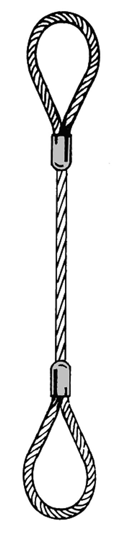 700 kg Anschlagseil mit beiderseits Schlaufen NL=5 m Tragf/ähigkeit